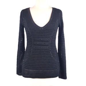 Catherine Malandrino Black Embellished Sweater S